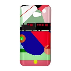 Abstract train HTC Butterfly S/HTC 9060 Hardshell Case