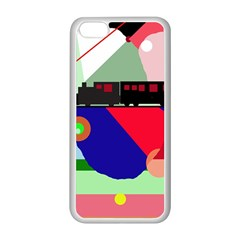 Abstract train Apple iPhone 5C Seamless Case (White)