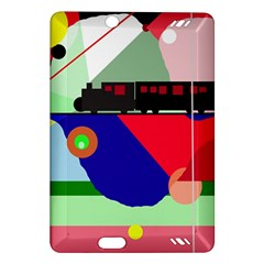 Abstract train Amazon Kindle Fire HD (2013) Hardshell Case