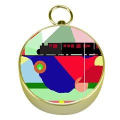 Abstract train Gold Compasses