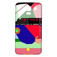 Abstract train Samsung Galaxy S5 Back Case (White)