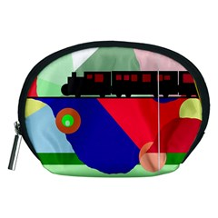 Abstract train Accessory Pouches (Medium)