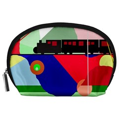 Abstract train Accessory Pouches (Large)