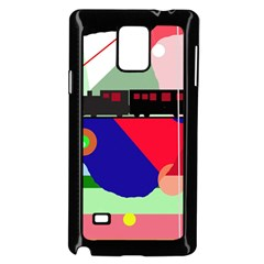 Abstract train Samsung Galaxy Note 4 Case (Black)