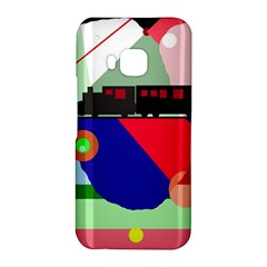 Abstract train HTC One M9 Hardshell Case