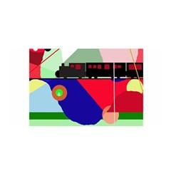 Abstract train Satin Wrap