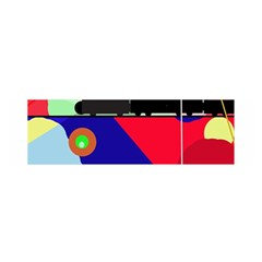 Abstract train Satin Scarf (Oblong)