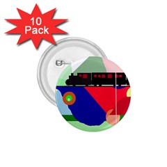 Abstract train 1.75  Buttons (10 pack)