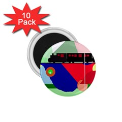 Abstract train 1.75  Magnets (10 pack)