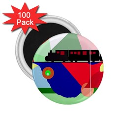 Abstract train 2.25  Magnets (100 pack)