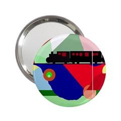 Abstract train 2.25  Handbag Mirrors