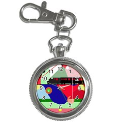 Abstract train Key Chain Watches