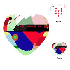 Abstract train Playing Cards (Heart)