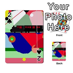 Abstract train Playing Cards 54 Designs