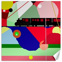 Abstract train Canvas 12  x 12
