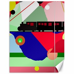 Abstract train Canvas 18  x 24