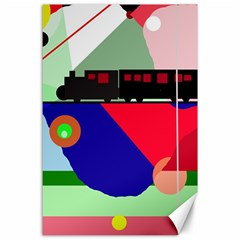 Abstract train Canvas 24  x 36