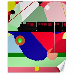 Abstract train Canvas 11  x 14