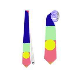 Abstract train Neckties (One Side)