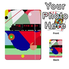 Abstract train Multi-purpose Cards (Rectangle)