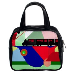 Abstract train Classic Handbags (2 Sides)