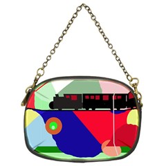Abstract train Chain Purses (Two Sides)