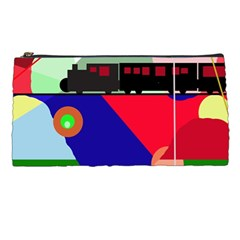 Abstract train Pencil Cases