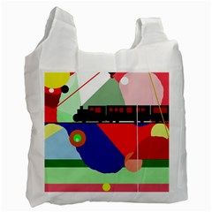 Abstract train Recycle Bag (One Side)