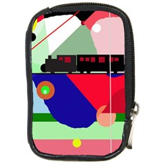 Abstract train Compact Camera Cases