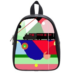 Abstract train School Bags (Small)