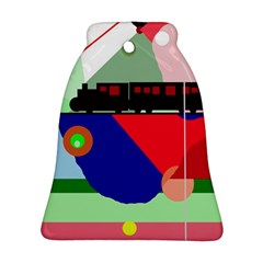Abstract train Bell Ornament (2 Sides)