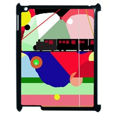 Abstract train Apple iPad 2 Case (Black)