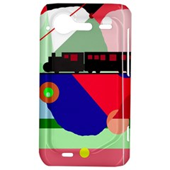 Abstract train HTC Incredible S Hardshell Case