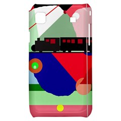 Abstract train Samsung Galaxy S i9000 Hardshell Case