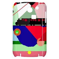 Abstract train Samsung S3350 Hardshell Case