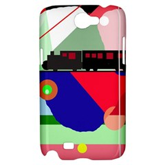 Abstract train Samsung Galaxy Note 2 Hardshell Case