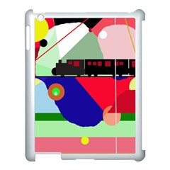 Abstract train Apple iPad 3/4 Case (White)
