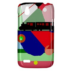 Abstract train HTC Desire V (T328W) Hardshell Case