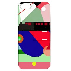 Abstract train Apple iPhone 5 Hardshell Case with Stand