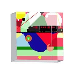 Abstract train 4 x 4  Acrylic Photo Blocks