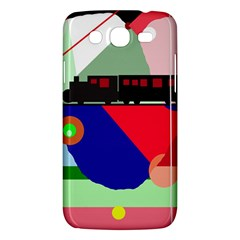 Abstract train Samsung Galaxy Mega 5.8 I9152 Hardshell Case