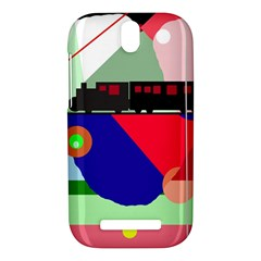 Abstract train HTC One SV Hardshell Case