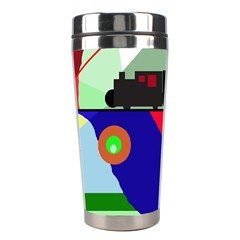 Abstract train Stainless Steel Travel Tumblers