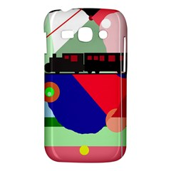 Abstract train Samsung Galaxy Ace 3 S7272 Hardshell Case