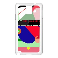 Abstract train Samsung Galaxy Note 3 N9005 Case (White)