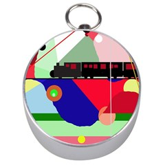 Abstract train Silver Compasses