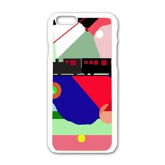 Abstract train Apple iPhone 6/6S White Enamel Case
