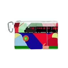 Abstract train Canvas Cosmetic Bag (S)