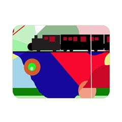 Abstract train Double Sided Flano Blanket (Mini)