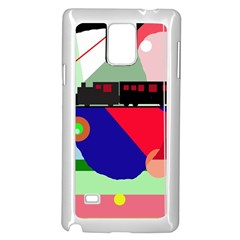Abstract train Samsung Galaxy Note 4 Case (White)